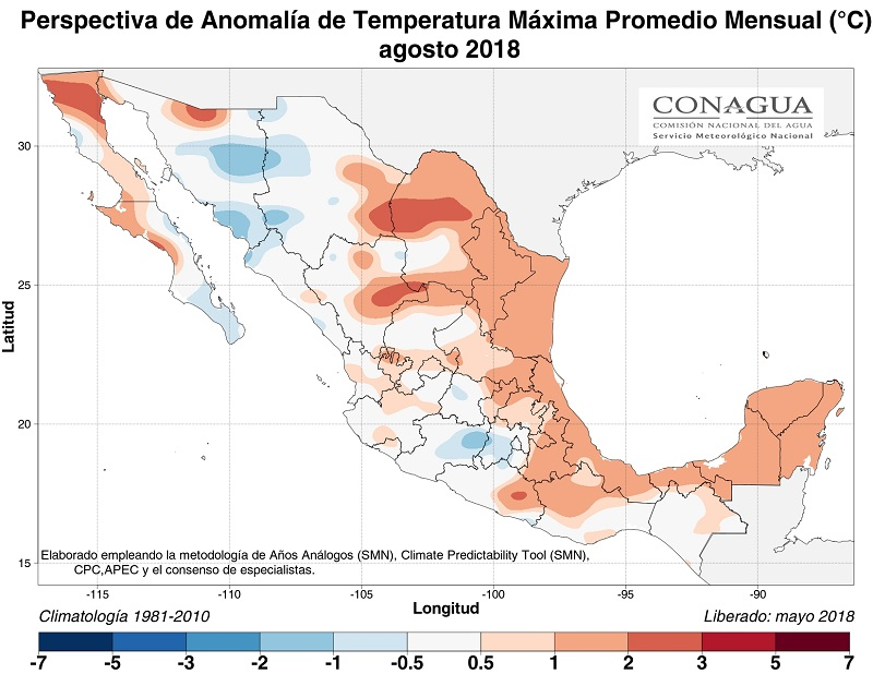 anomaliaTmexicoagosto18 ART 77: EL TIEMPO EN MÉXICO: TEMPORADA DE LLUVIAS 2018