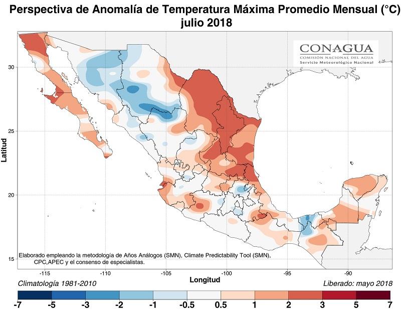 anomaliaTmexicojulio18 ART 77: EL TIEMPO EN MÉXICO: TEMPORADA DE LLUVIAS 2018