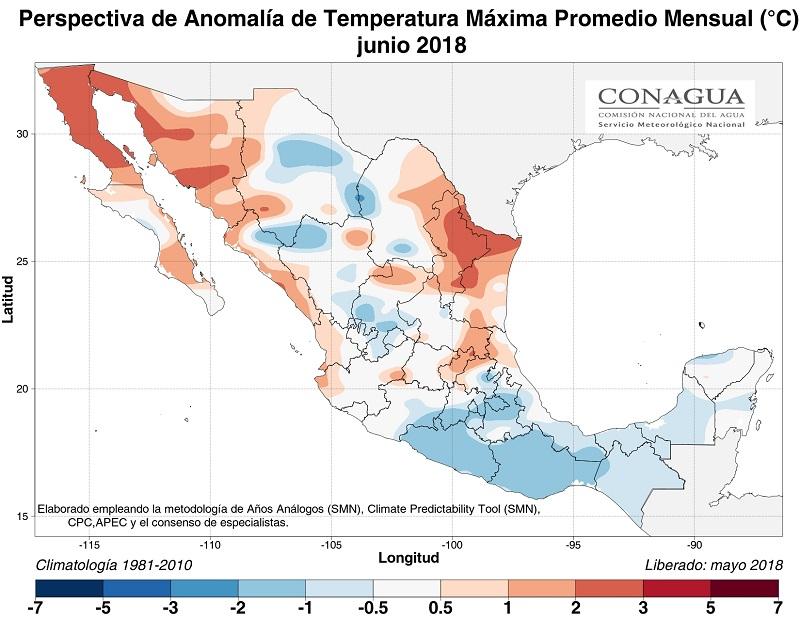 anomaliaTmexicojunio18 ART 77: EL TIEMPO EN MÉXICO: TEMPORADA DE LLUVIAS 2018