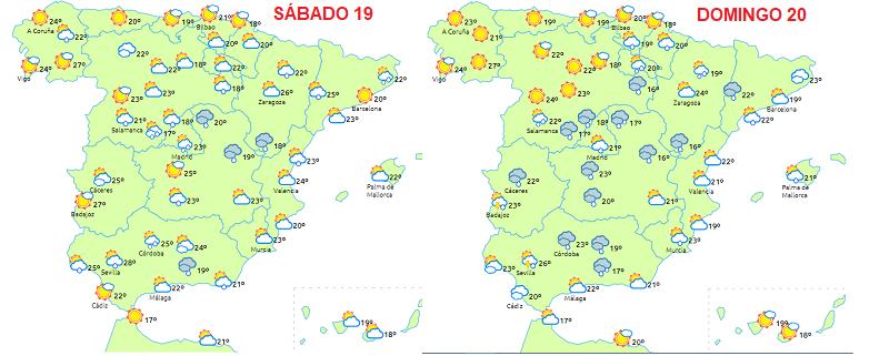 espana19 200518 ART 79: PREVISIÓN DEL TIEMPO EN ESPAÑA Y CATALUNYA 19 y 20 MAYO 2018