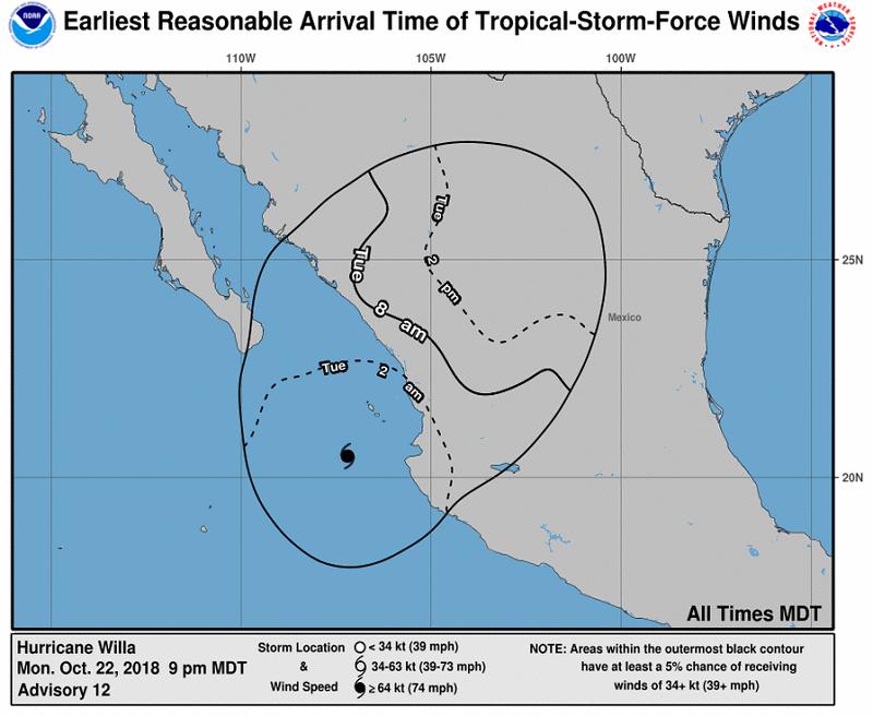 willa060048 earliest reasonable toa no wsp 34 ART 96: EL TIEMPO EN MÉXICO: HURACANES, TORMENTAS TROPICALES Y LLUVIAS OCTUBRE 2018