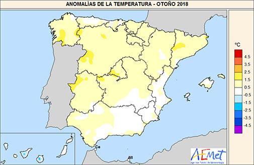 1545081919 159 el otono de 2018 muy calido y mas lluvioso de lo normal agencia estatal de meteorologa El otoño de 2018, muy cálido y más lluvioso de lo normal   Agencia Estatal de Meteorologa