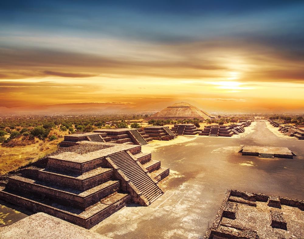 mexicopiramidesteotihuacan ART 109: VIAJANDO: EL TIEMPO EN TU DESTINO CIUDAD DE MÉXICO