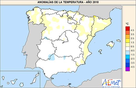1547234444 486 el ano 2018 fue calido y muy humedo en el conjunto de espana agencia estatal de meteorologa El año 2018 fue cálido y muy húmedo en el conjunto de España   Agencia Estatal de Meteorologa