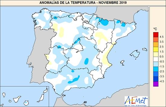 1576697084 277 noviembre de 2019 un mes muy humedo agencia estatal de meteorologa Noviembre de 2019, un mes muy húmedo   Agencia Estatal de Meteorologa