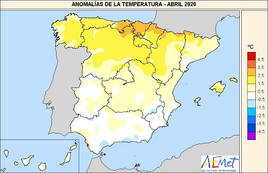 abril de 2020 un mes calido pese a la ausencia de sol agencia estatal de meteorologa Abril de 2020, un mes cálido pese a la ausencia de sol   Agencia Estatal de Meteorologa