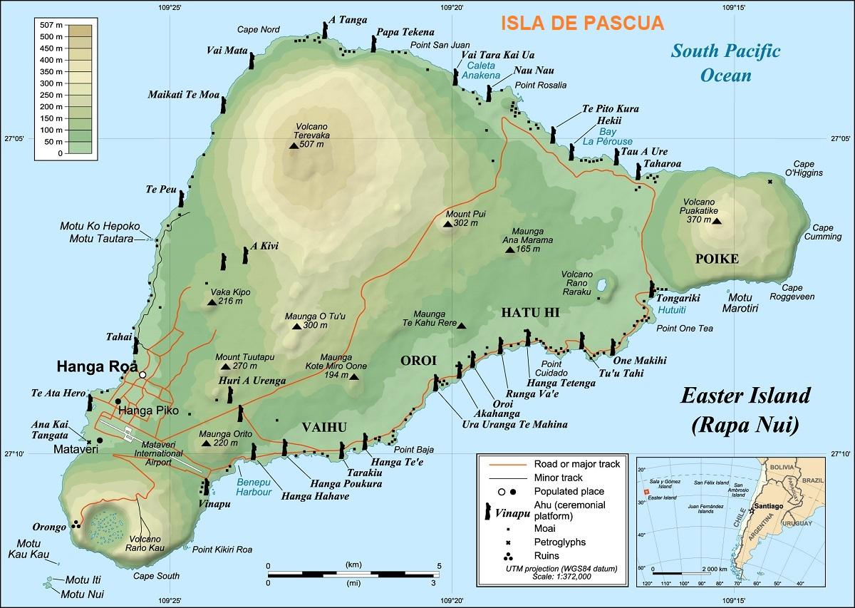 isla de pascua mapa ART 223: VIAJANDO: EL TIEMPO EN TU DESTINO ISLA DE PASCUA
