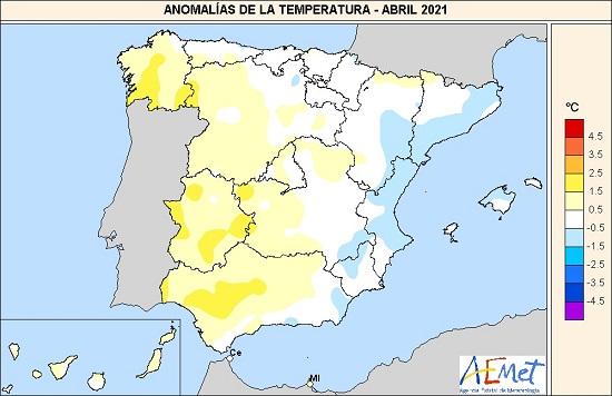439 abril de 2021 un mes en la media agencia estatal de meteorologa Abril de 2021, un mes en la media   Agencia Estatal de Meteorologa