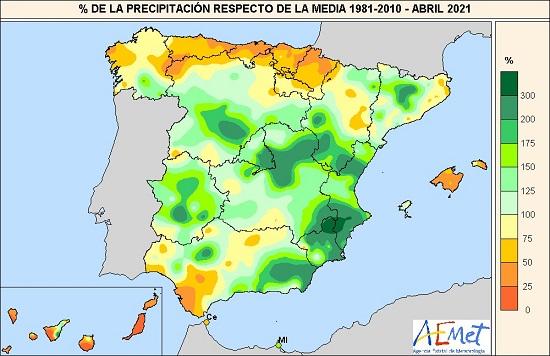 930 abril de 2021 un mes en la media agencia estatal de meteorologa Abril de 2021, un mes en la media   Agencia Estatal de Meteorologa
