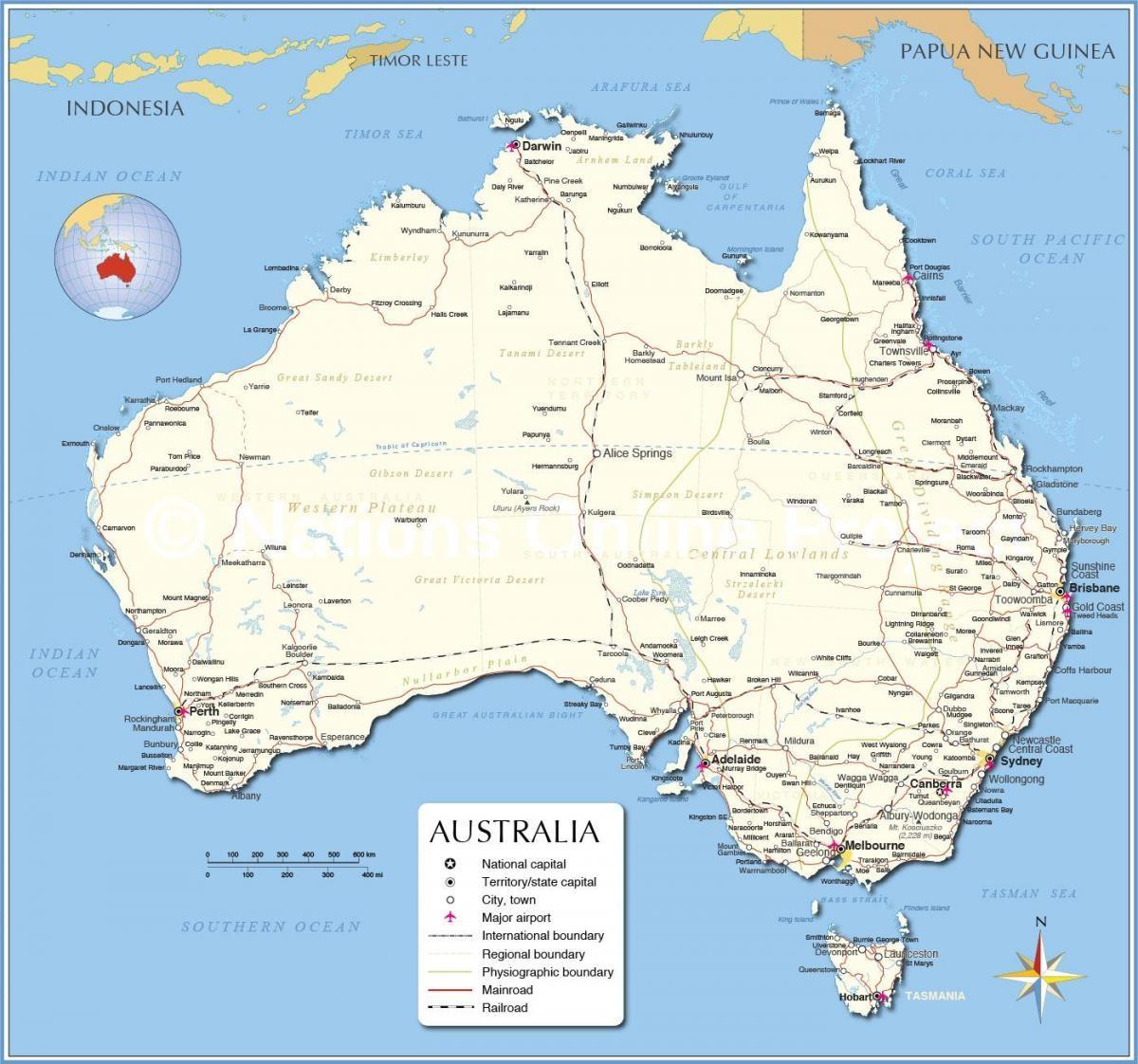 australia este mapa ART 226: VIAJANDO: EL TIEMPO EN TU DESTINO AUSTRALIA/ESTE