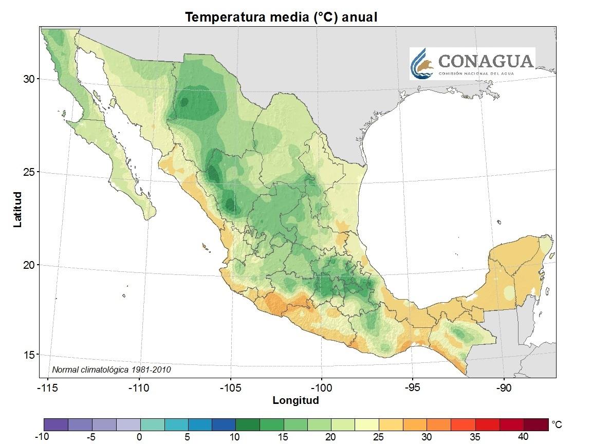 mexicotemperaturamediaanual ART 239: DIVERSIDAD DEL CLIMA EN MÉXICO