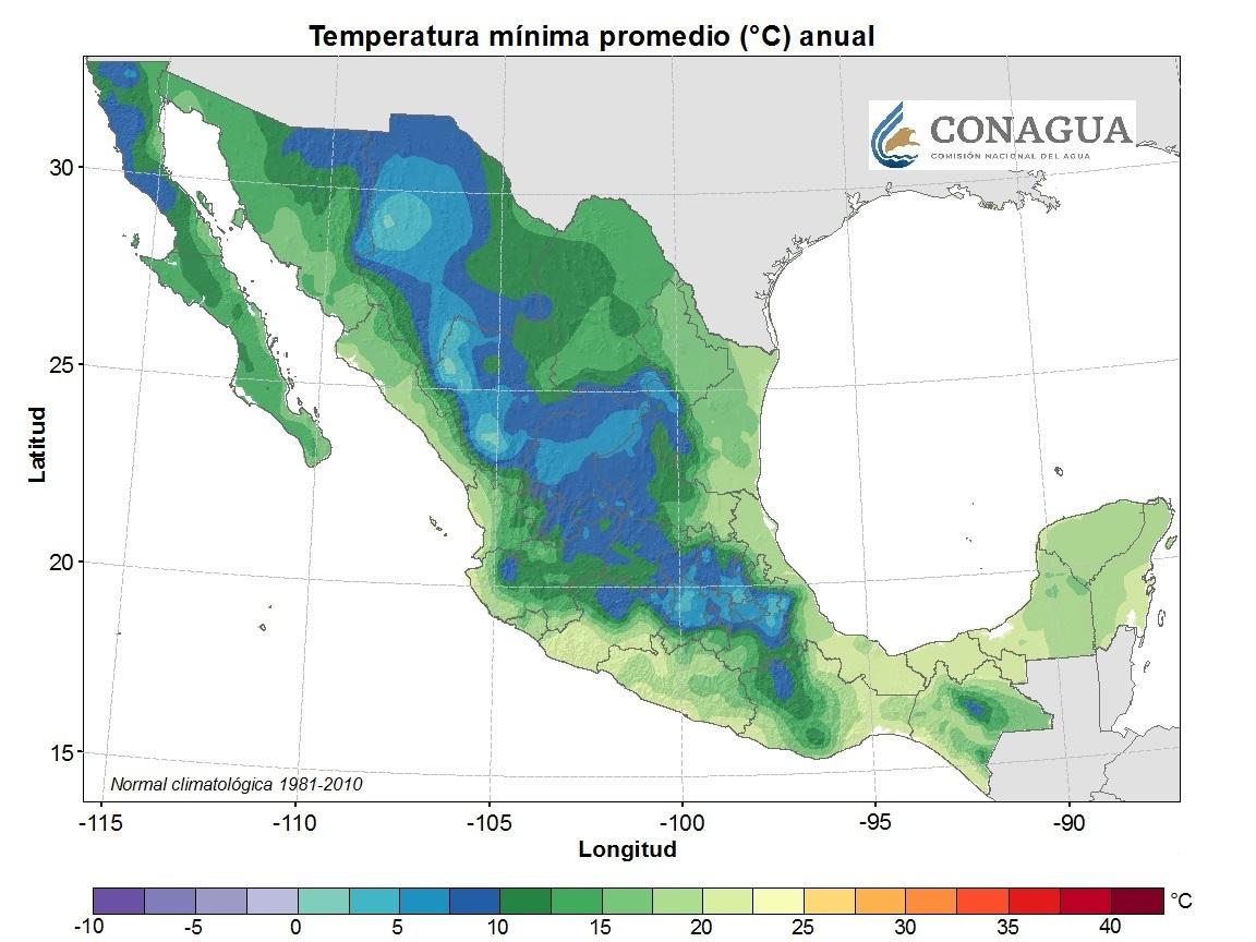 mexicotemperaturamediaminimaanual ART 239: DIVERSIDAD DEL CLIMA EN MÉXICO